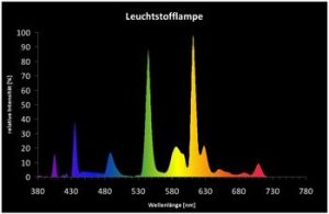 Spektrum einer Leuchtstofflampe