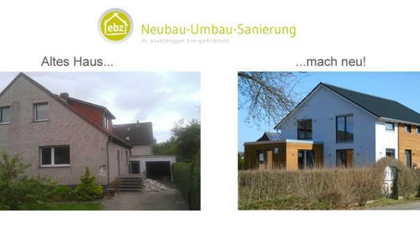 Erweiterung und energetische Sanierung eines Einfamilienhauses auf Neubauniveau in Harsum