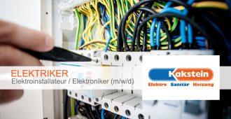 Elektriker/Elektroinstallateur/Elektroniker (m/w/d)